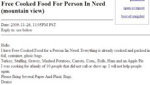 craigslist free stuff thanksgiving leftovers translated the snitch