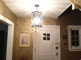 interior hall way with flush mount ceiling light using round