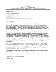 client relations manager cover letter
