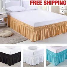 Wrap Around Bed Skirts Elastic Bed Skirt Ebay