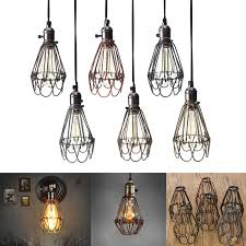 industrial cage light bulb cover retro vintage industrial l covers pendant trouble light bulb