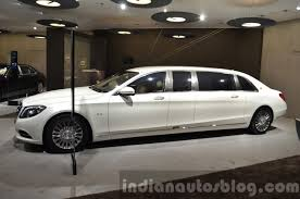 mercedes maybach 2015 mercedes maybach s600 pullman side left at iaa 2015 indian autos