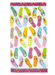 flip flop towel home accents pink party flops ashore towel 20 liked on