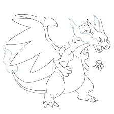 charizard pokemon coloring mega coloring