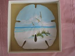beautiful painted sand dollar ebay nautical