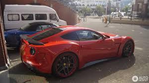 Ferrari F12 Matte Red - ferrari novitec rosso f12 n largo 3 july 2017 autogespot