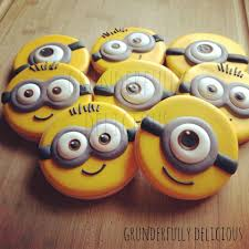 eyes white dot adds dimension cute minions cookie connection