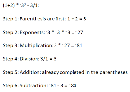order of operations with signed numbers study com