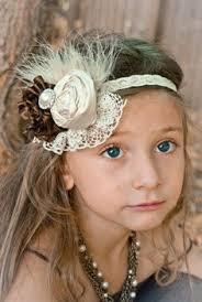 vintage headbands pearl flower hair accessories headwear infant children baby