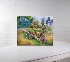 lighted canvas art with timer lighted canvas pictures christmas tree hill