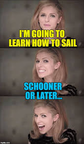 Sail Meme - i m going to learn how to sail schooner or later meme