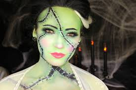 half face halloween makeup ideas bride of frankenstein halloween makeup tutorial youtube