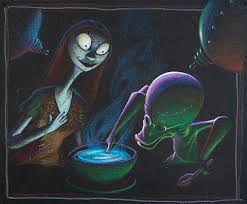 sally and professor from the nightmare before storyboard