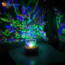 childrens night light projector lumiparty portable magic project l shape color changing