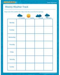 weekly weather track u2013 fun graph worksheets for kids u2013 mathblaster