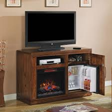 Tv Stand With Fireplace Party Time Infrared Electric Fireplace Media Console In Midnight
