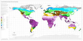 Regions World Map by Bioclimatic U0026 Biogeographic Maps