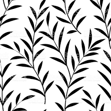 floral background palm tree leaves border nature pattern stock