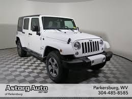 jeep sahara white new 2016 jeep wrangler unlimited sahara convertible in parkersburg