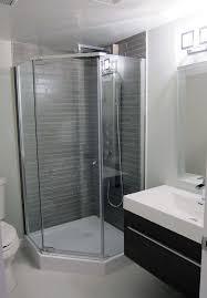 small shower stalls bathroom contemporary with basement bathroom