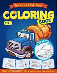 trucks coloring book dover design coloring books steven james