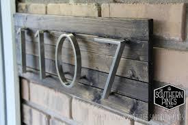 Address Home Decor Modern Rustic Home Address Sign Farmhouse Espresso House