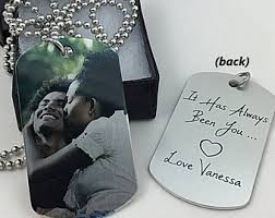 Personalized Dog Tags For Couples Tag Necklace Etsy