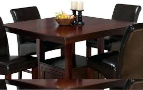 Dining Table With Storage Uk Jofran Tessa Chianti Square Counter - Counter height kitchen table with storage