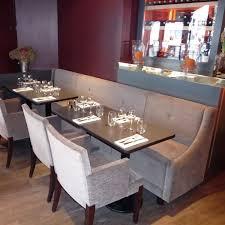 mobilier de bistrot banquette de bistrot contemporaine en tissu professionnelle