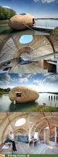the exbury egg is a floating wooden sustainable energy