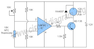 temperature activated light switch temperature controlled fan circuit diagram
