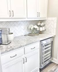 white kitchen cabinets with white and grey countertops pin by chin on home design kitchen design home