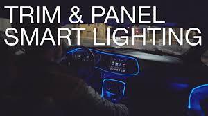 led test light autozone type s panel trim lights youtube