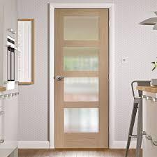 Glass Fire Doors by Bespoke Shaker 4 Pane Oak Door With Obscure Fire Glass 1 2 Hour