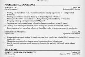 Staff Accountant Resume Example by Payroll Resume Sample Reentrycorps