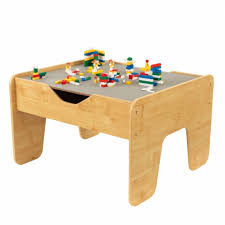 modern kids table activity play table gray u0026 natural