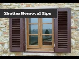 Spray Paint Vinyl Shutters - removing shutters with shur lok fasteners window shutter removal