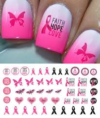 breast cancer awareness nail decals set 3 u2013 moon sugar decals