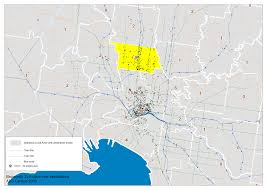 Melbourne Tram Map Transport Design Charting Transport