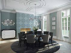 27 splendid wallpaper decorating ideas for the dining room blue