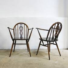 Ercol Windsor Rocking Chair Pair Of Windsor Chairs No 371 By Lucian Ercolani For Ercol
