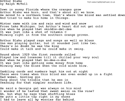 arthur blake txt by ralph mctell lyrics and chords