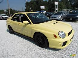 subaru yellow blaze yellow 2002 subaru impreza wrx sedan exterior photo