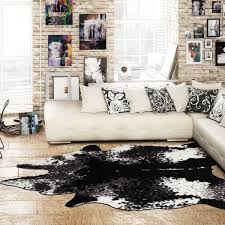 Faux Cowhide Rugs El Paso Cream Black Faux Cowhide Rug Ecarpet Gallery Touch
