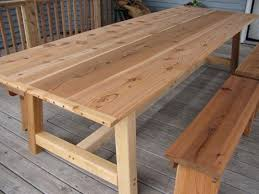 Free Plans For Outdoor Table by Dining Table Furniture Outdoor Cedar Dining Table Large Patio