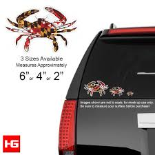 Flag Measurements Maryland Flag Crab Vinyl Decal Available In 3 Sizes