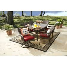 Patio Dining Chairs Clearance Waterproof Wicker 7pc Patio Garden Dining Furniture Set Table