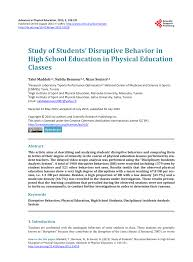 online pe class high school teachers reports of student misbehavior in physical education