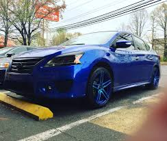 custom nissan sentra color matched neoz 5011 neon blue 18