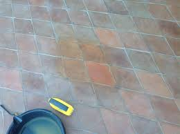 How To Clean Paver Patio by Mexican Terracotta Paver Exterior Patio Restored